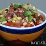 Raw Corn Avocado Salad