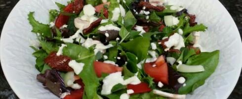 raw pizza salad