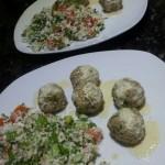 Raw Falafel, Tabouli, and Lemon Tahini Sauce